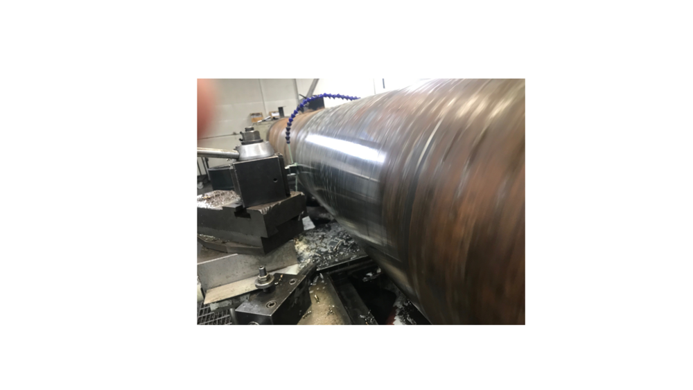 "MANUAL TURNING - OUR MANUAL LATHES HAVE CAPACITY UP TO 20"" DIAMETER AND 150"" OVERALL LENGTH. TO ENSURE ACCURACY, ALL OF OUR MANUAL LATHES HAVE DIGITAL READOUTS."