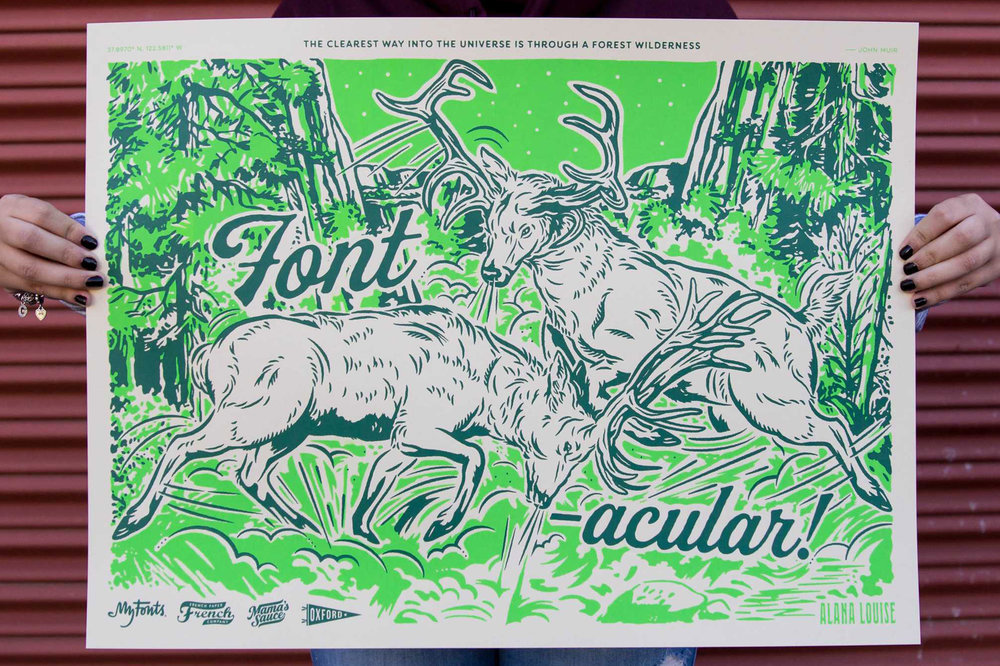Fontacular Poster Printed by Mama's Sauce