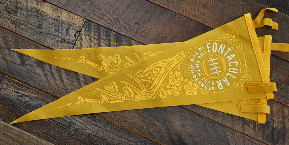 Fontacular Pennants Printed by Oxford Pennant