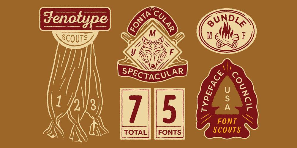 Fontacular Scout Badges