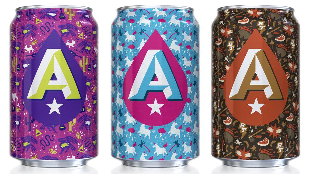 Austin Beerworks Seasonal Cans: La Verdad, Einhorn, Black Thunder