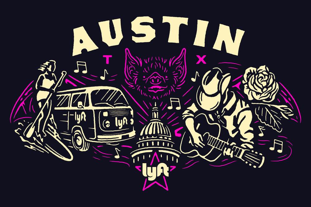 Lyft Austin Artwork