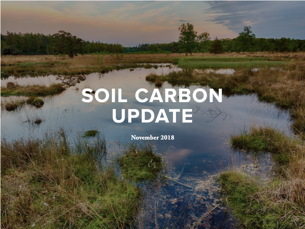 November 2018 Update - This update includes features on publications, reports and studies, ecological restoration projects, prizes, mapping, monitoring, reporting and verifying carbon in soil, events, policy development and grants.