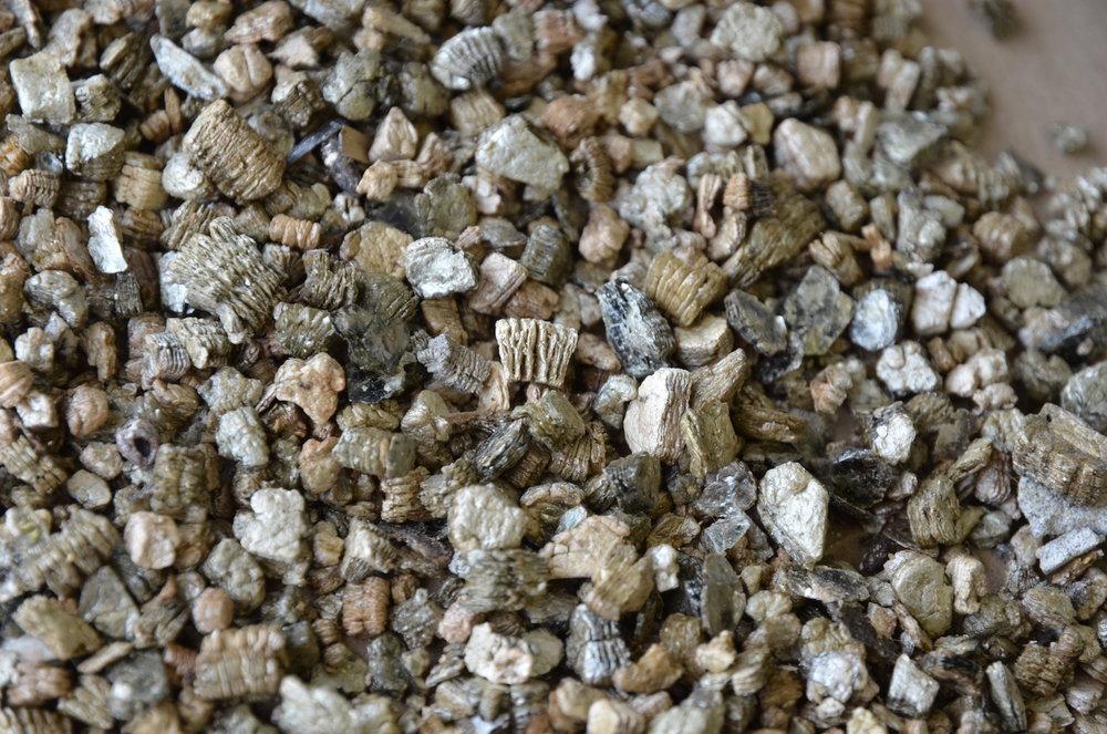 Vermiculite close up.