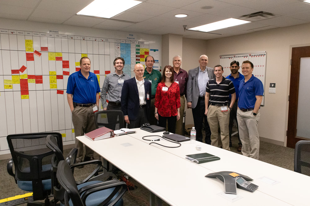 Lean Leaders from across industry sectors in Jacksonville and the First Coast meet at Medtronic