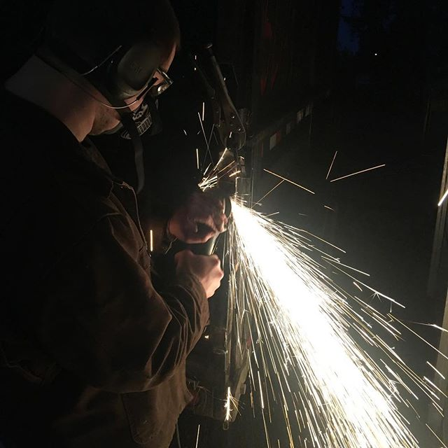 Late night grind on a rush job. #elite #welding #weldarmy #weldernation #smallbusiness