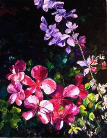 """Back Corner — 24"""" x 30"""", $2600 including frame , oil on canvas"""
