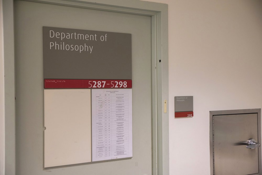 Dept. of Philosophy - James Rowes' name is not listed on the philosophy department's teaching schedule for this semester, as he was removed after allegations of inappropriate conduct.Image Credit: Julian Tineo | The Ticker