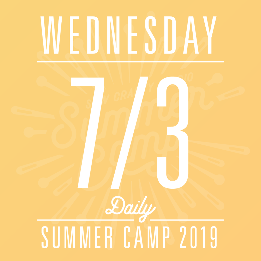 Daily Summer Camp, Wednesday, 7/3