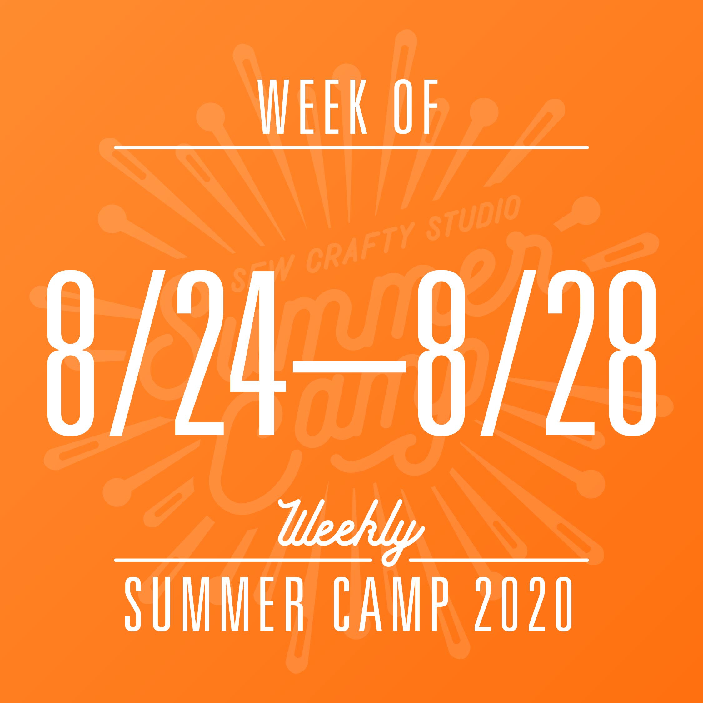Weekly Summer Camp 8 24 8 28 Sew Crafty Studio