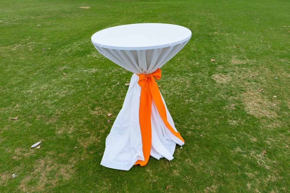Cocktail Tables w/ Linen & Tie