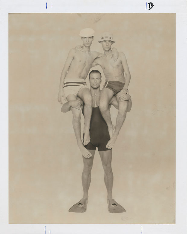 "UNTITLED (BOYS ON SHOULDERS), 1995  8"" X 10"" POLAROID"