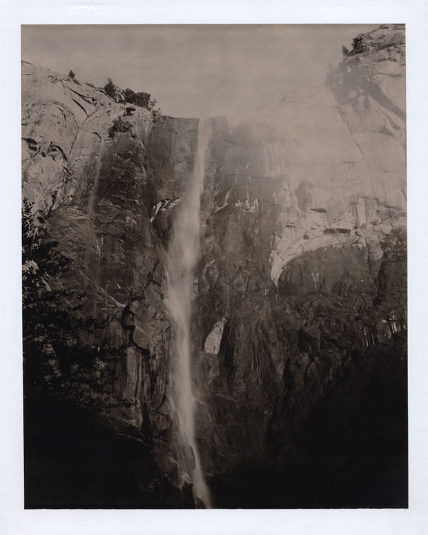 "WATERFALL YOSEMITE, 2005 8"" X 10"" POLAROID"