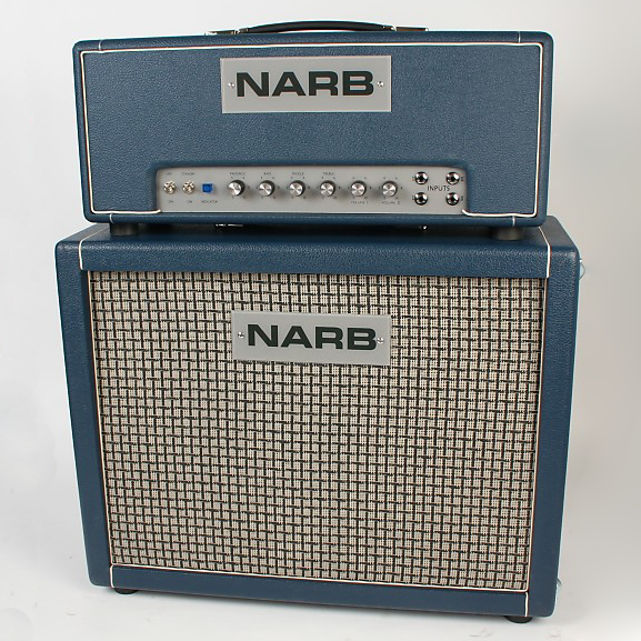 """A Rock & Roll Workhorse. - Loud enough for the club and manageable enough for the studio, the NARB Lead 50 boasts two channels which are internally linked to achieve the traditional """"jumped"""" channel effect straight out of the box. In addition to high and low treble inputs for each channel, there is a shared three-band EQ section, allowing you to hone in your unique sound."""