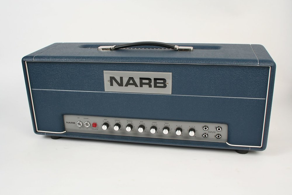 "No mic needed. - When the average amp just isn't cutting it, the NARB 100 is here to drown out the competition. In addition to the fattest sound around, the Lead 100 boasts two channels which are internally linked to achieve the traditional ""jumped"" channel effect straight out of the box. High and low treble inputs for each channel and a shared three-band EQ section allow you to hone in your unique sound."