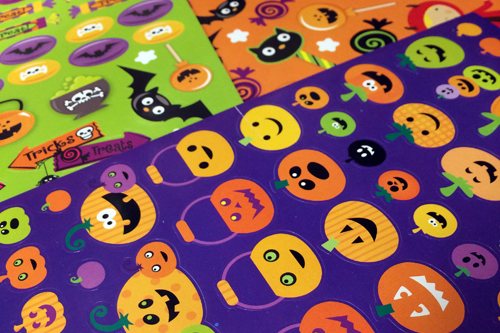 Candy Free Halloween Stickers
