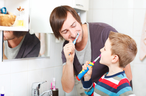 Brushing after meals can harm teeth