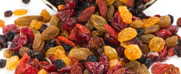 dried fruit hidden sugar