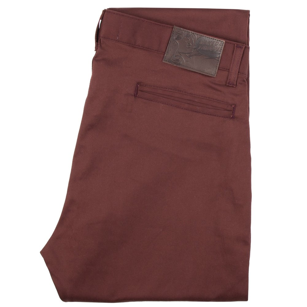 burgundy stretch twill - Slim Chino