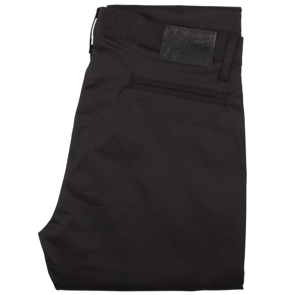 black stretch twill - Slim Chino