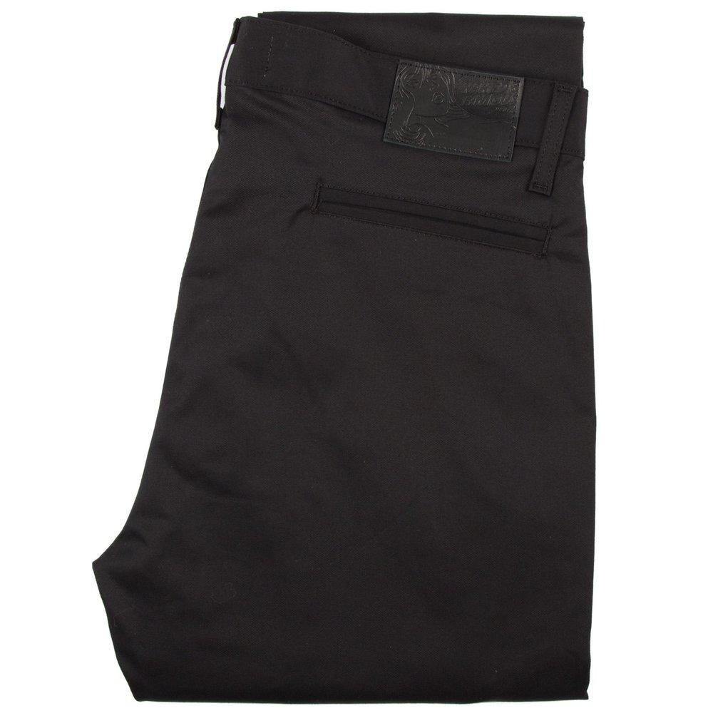 black stretch twill - Slim Chino