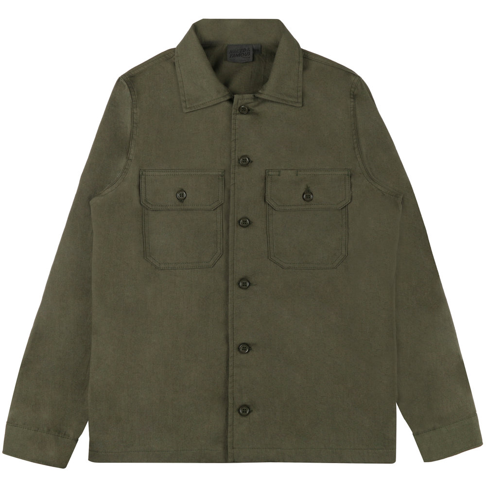GREEN RINSED OXFORD - Workshirt