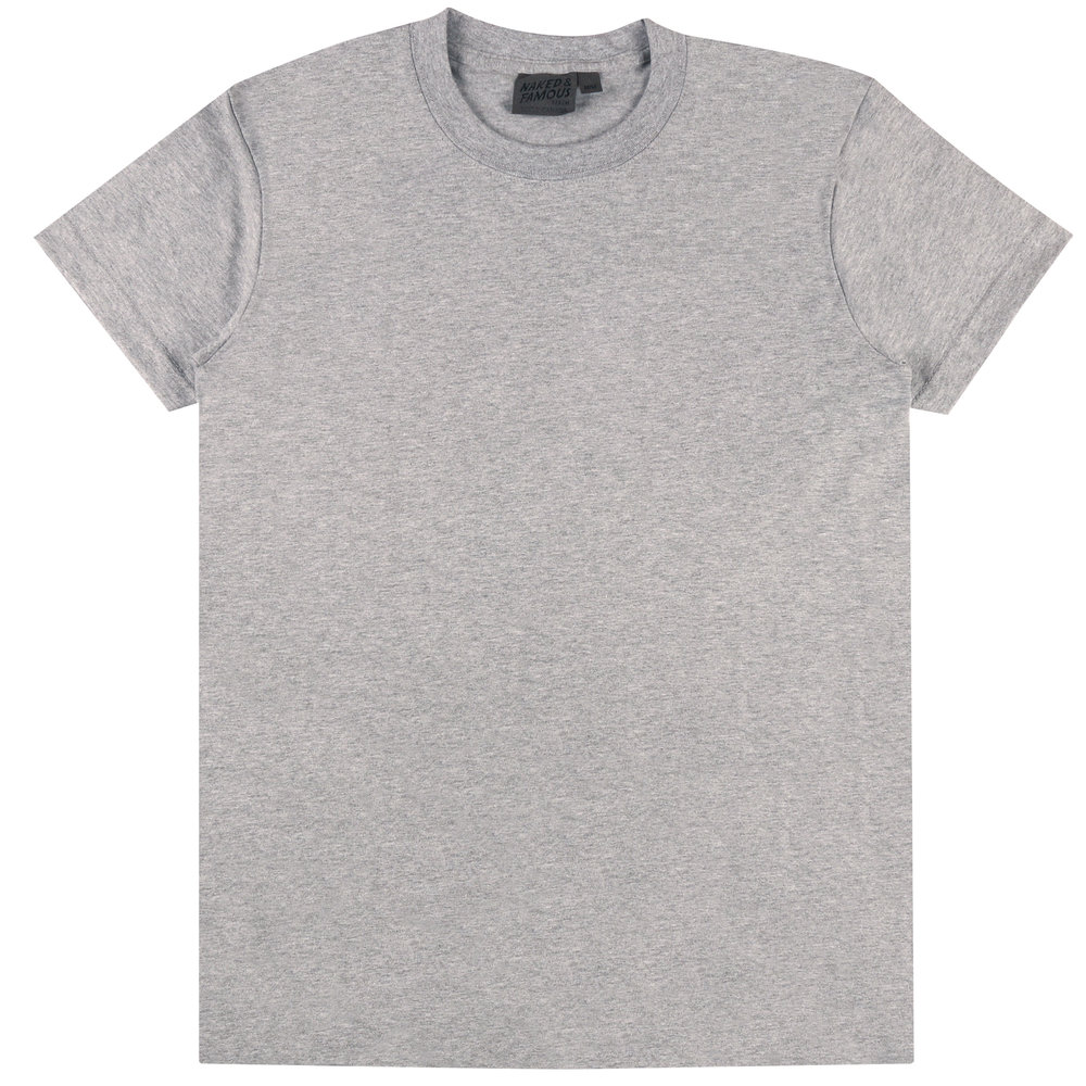 HEATHER Grey RINGSPUN COTTON - Circular T-Shirt