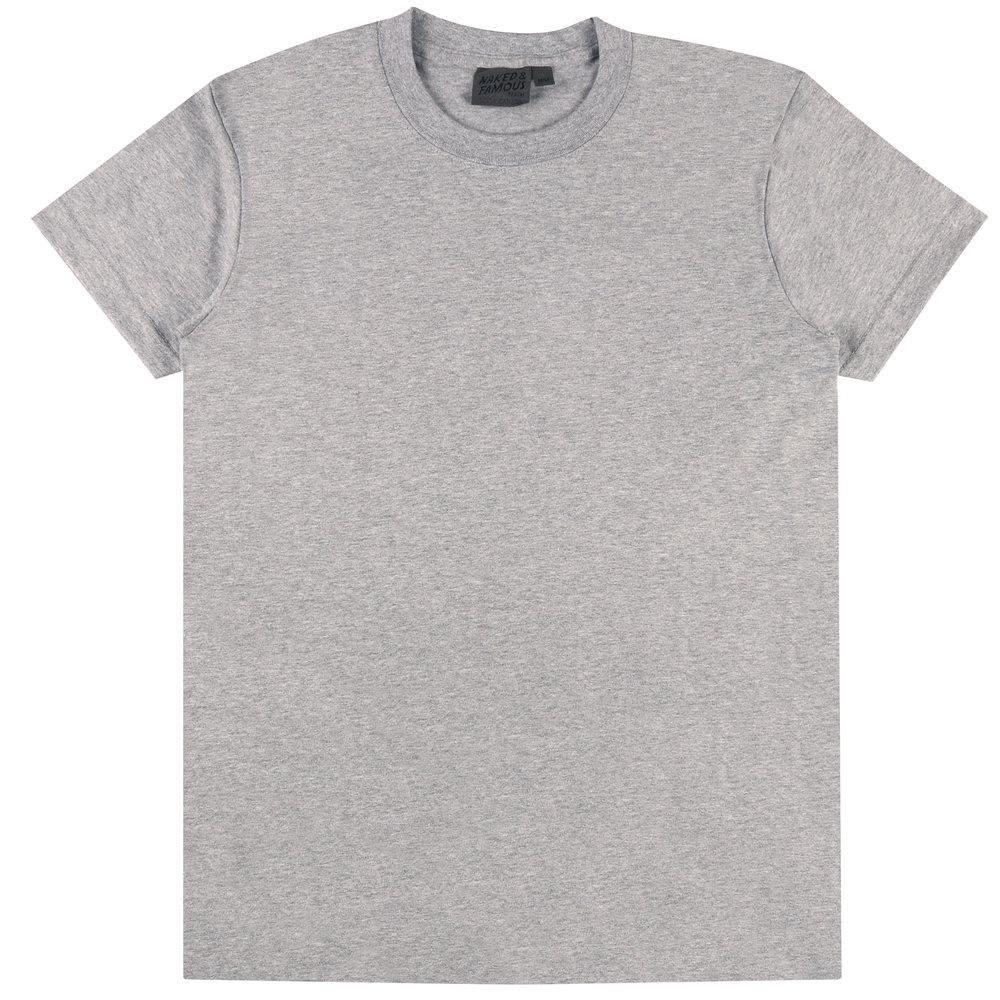 HEATHER Grey RINGSPUN COTTON - Circular T-Shirt