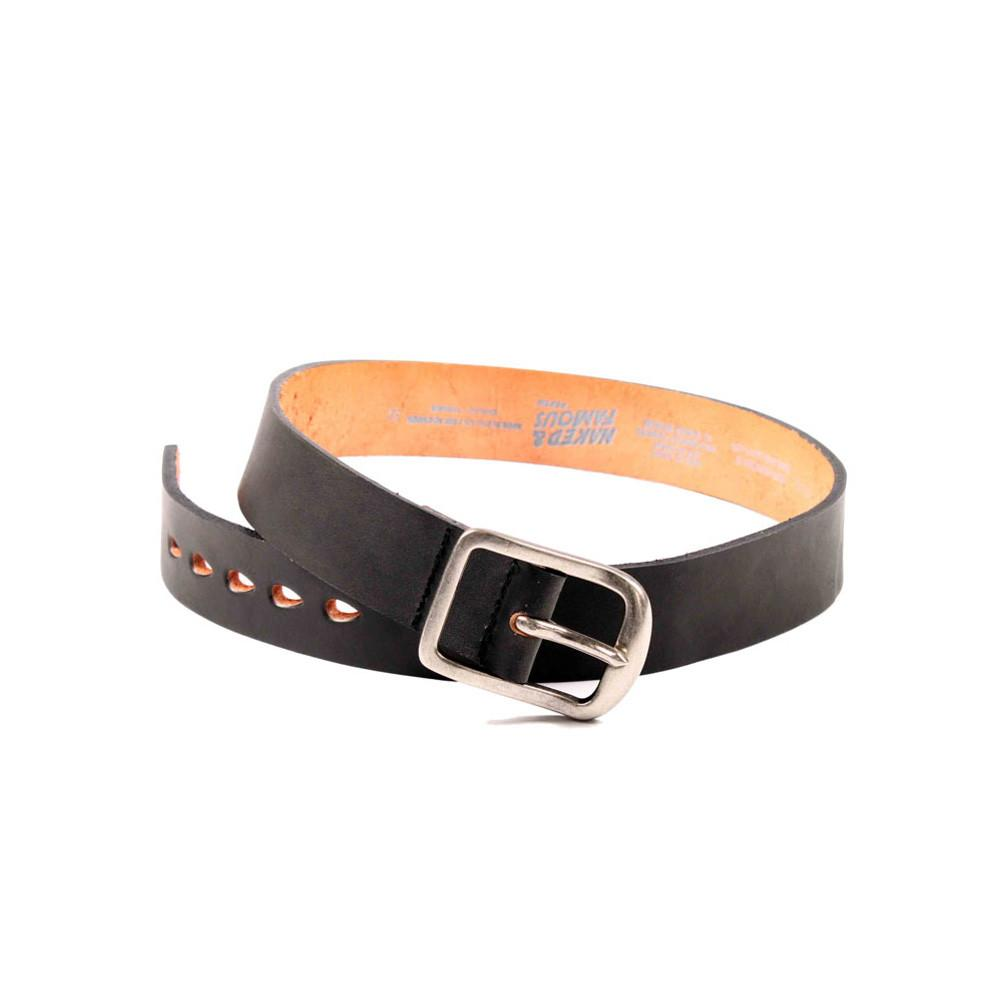 BLACK 7mm LEATHER - Thick Belt