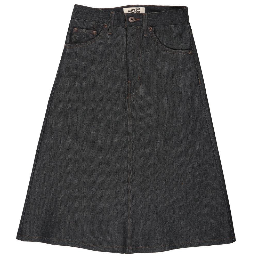 Indigo RAW DENIM - Denim Skirt