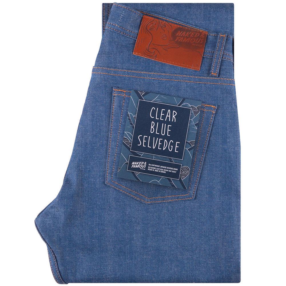 CLEAR BLUE SELVEDGE - Super Guy / Weird Guy / Easy GuyStrong Guy