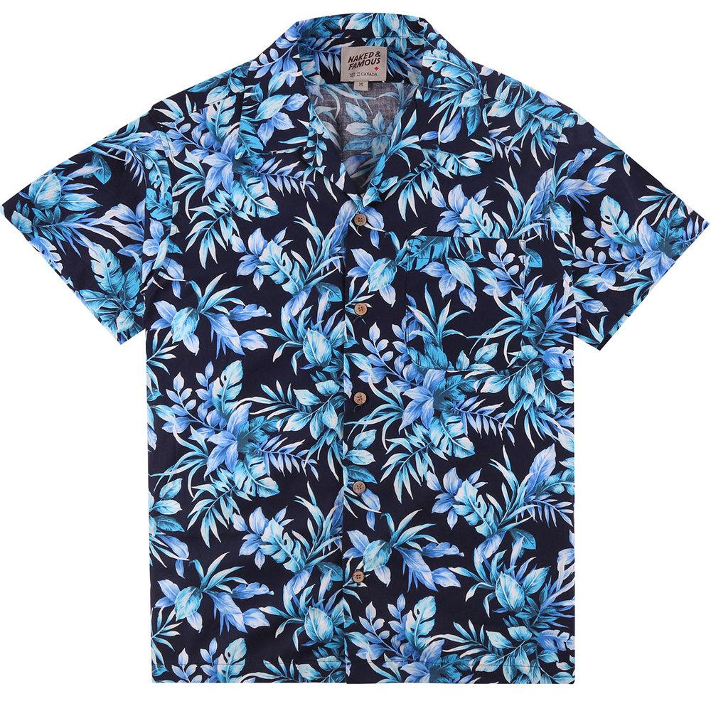 BIG TROPICAL - NAVY - Aloha Shirt