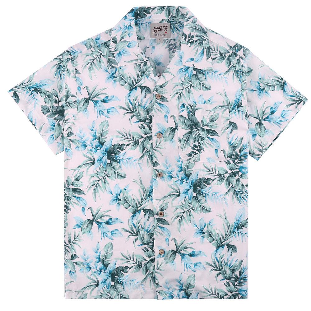 BIG TROPICAL -WHITE - Aloha Shirt