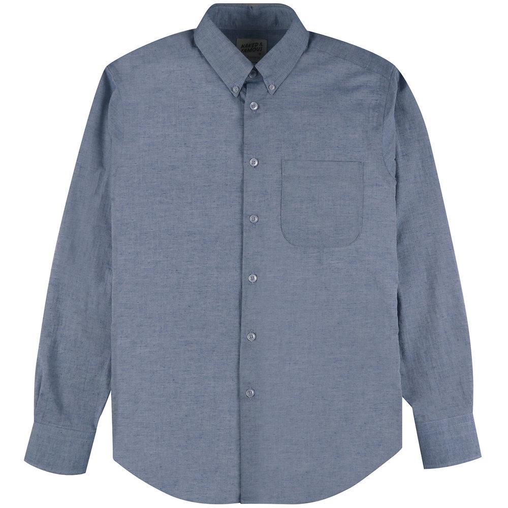 HEATHER GAUZE - BLUE - Easy Shirt