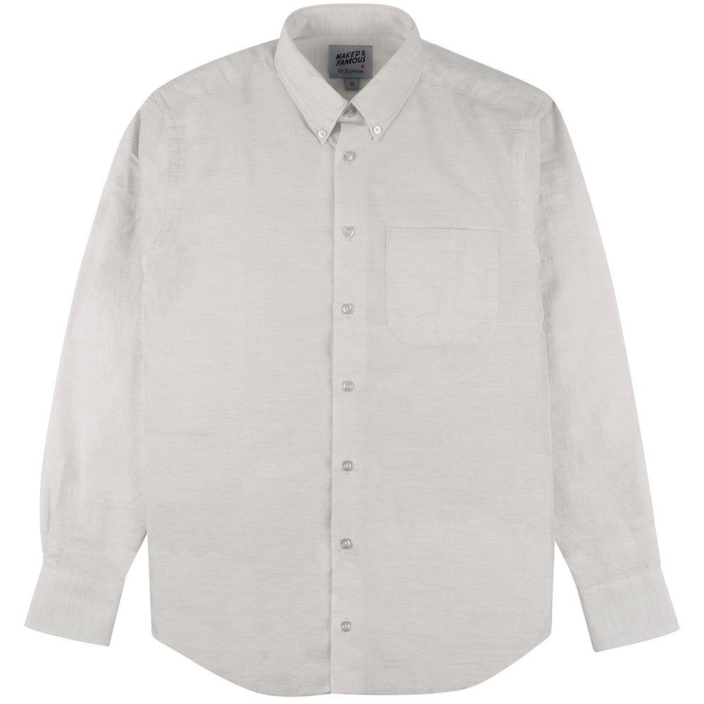 HEATHER GAUZE - PALE GREY - Easy Shirt