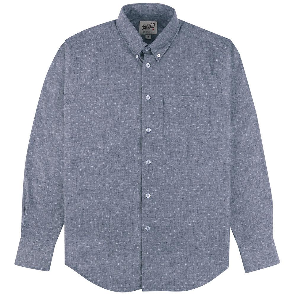 DOBBY DUNGAREE - CHAMBRAY BLUE - Easy Shirt