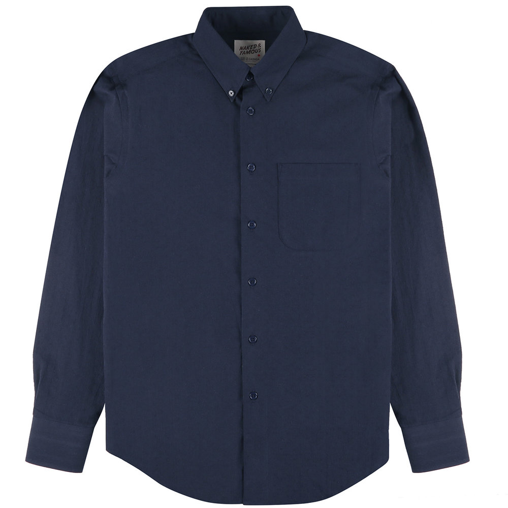 DOBBY DUNGAREE - SOLID NAVY - Easy Shirt