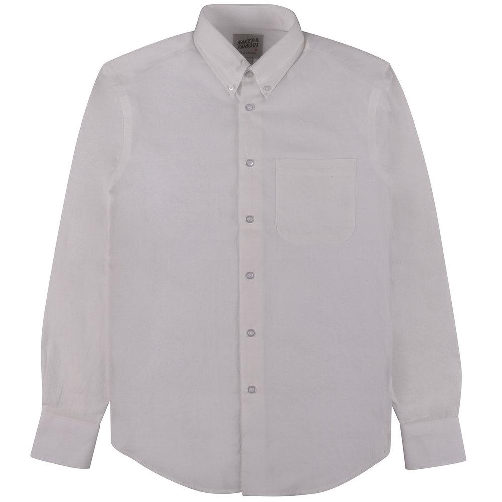 DOBBY DUNGAREE - WHITE - Easy Shirt
