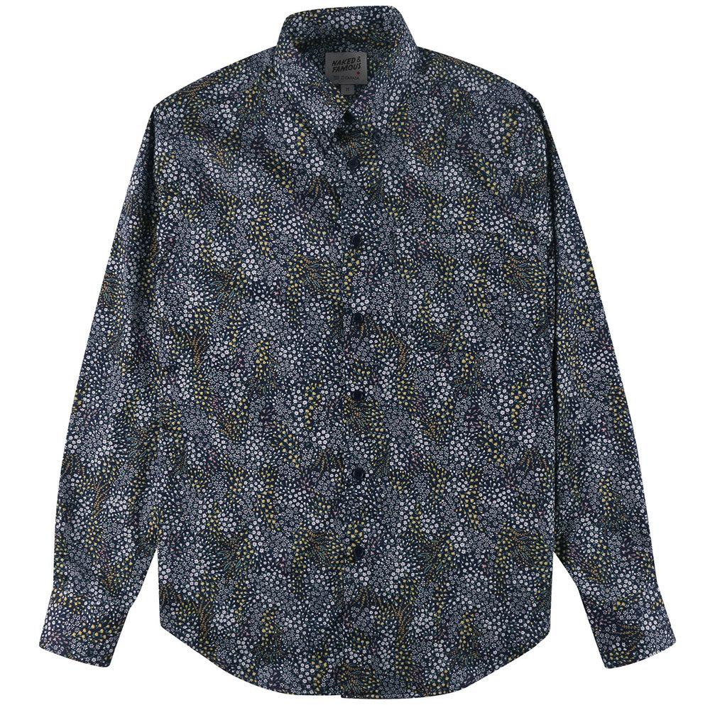 ALLOVER FLOWERS - NAVY - Easy Shirt