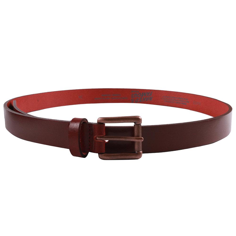 DEEP RED BUFFALO LEATHER - Buffalo Belt
