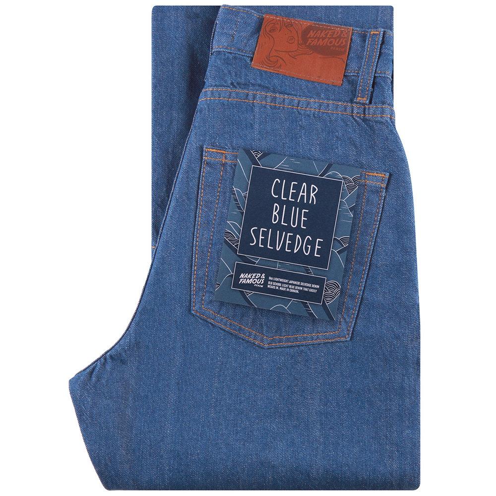 CLEAR BLUE SELVEDGE - Boyfriend / Classic