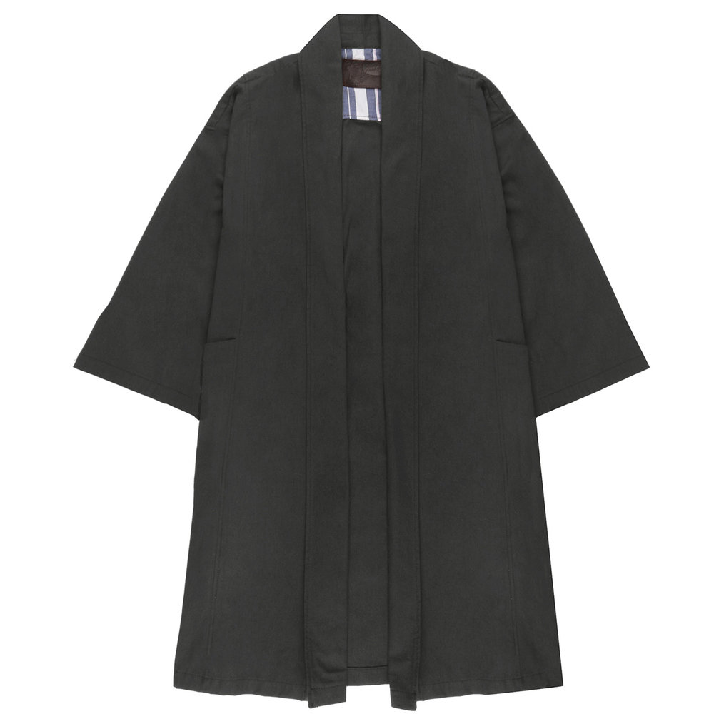 CHARCOAL RINSED OXFORD - Overcoat