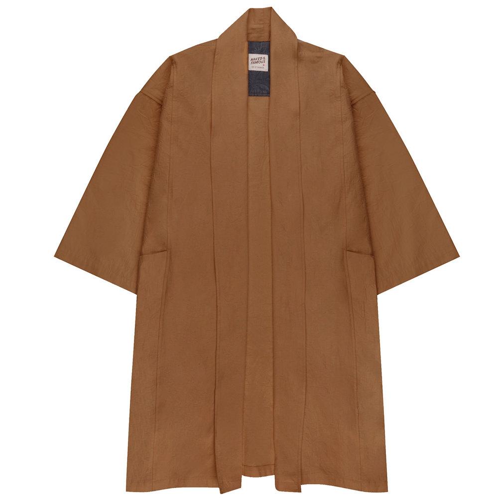 CAMEL RINSED OXFORD - Overcoat