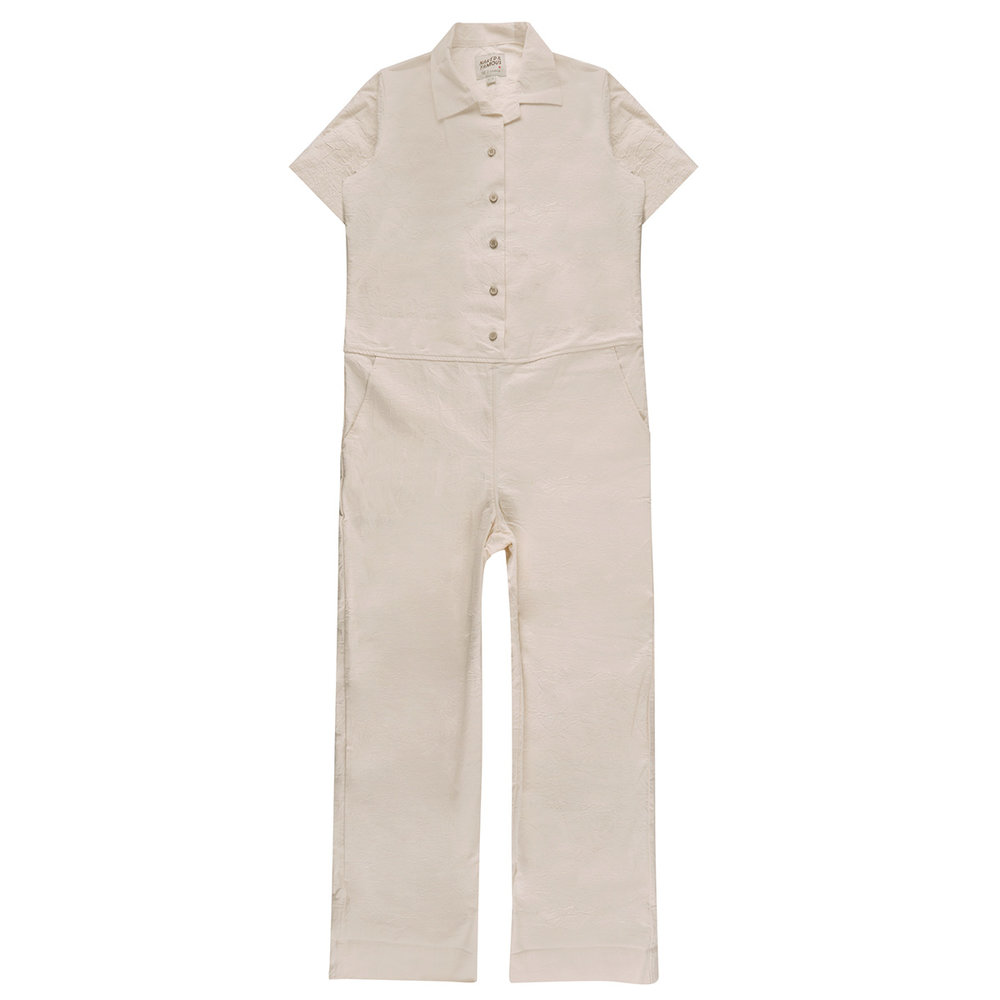 OFF WHITE RINSED OXFORD - Jumpsuit