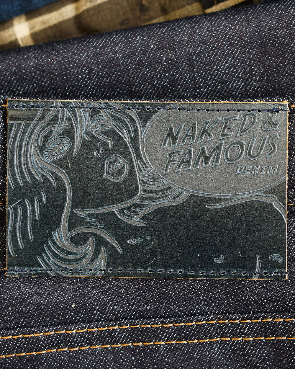 Pull up leather patch