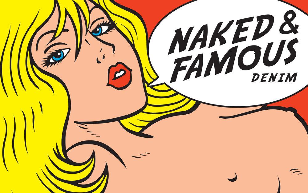 """Naked & Famous Denim """"Tragic Blond"""" Logo"""