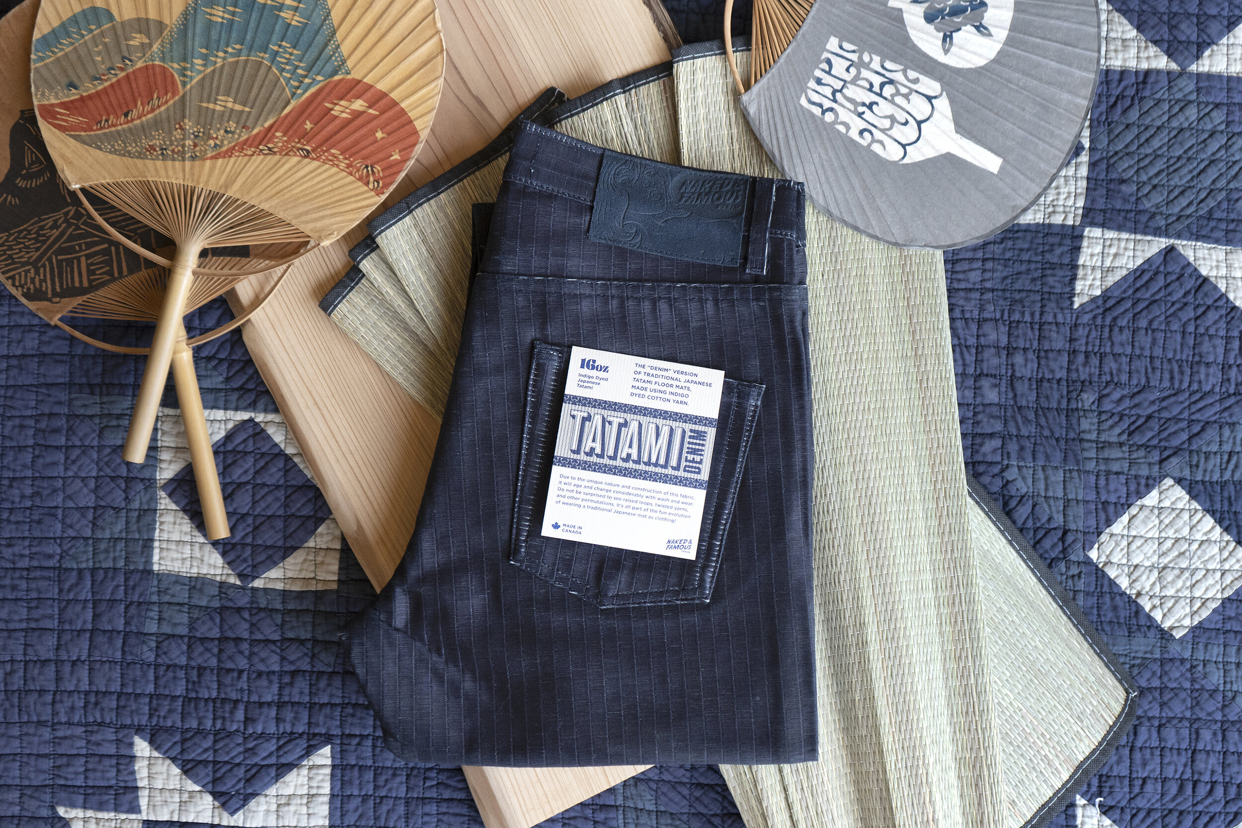 Tatami Denim - Folded Flat