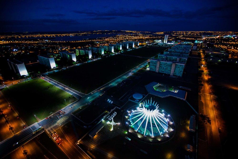 Brasilia at night.  Courtesy   Bento Viana →