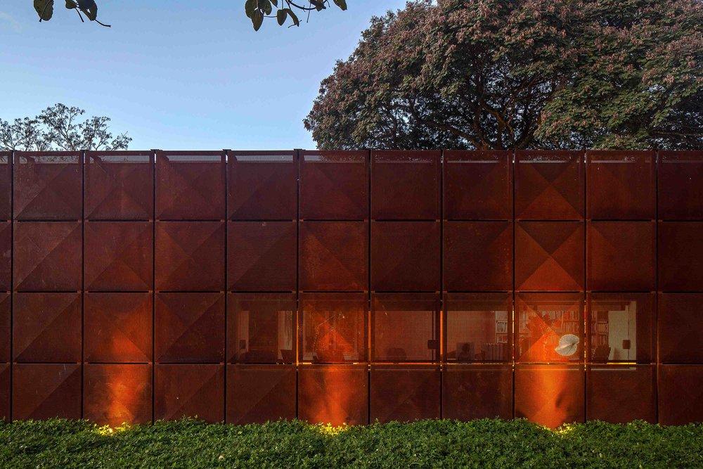 Villa BLM.  Corten Steel facade .    Learn     More    →