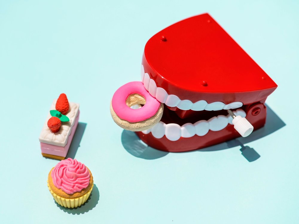 You have to be careful with what you eat when you have braces.